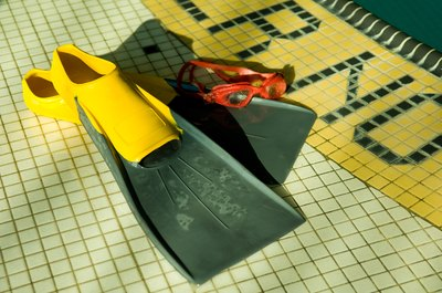 Swim fins can help improve proper kicking technique.