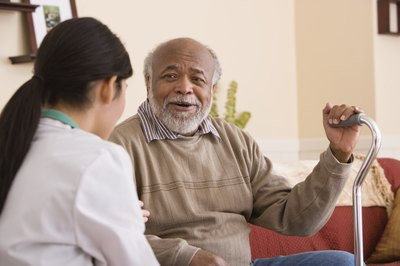 A nurse's aide often work with elderly or disabled patients.