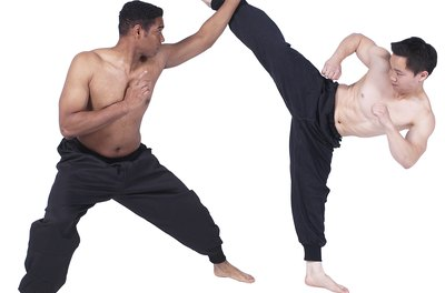 Hwa rang do employs numerous kicking techniques that can be used to control or counter an attack.