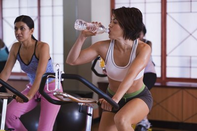 You'll need water for your spinning workout.