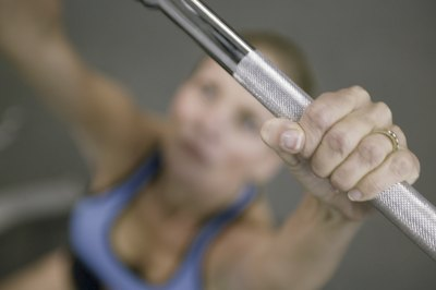 Lift a light weight the first time you perform the push press.