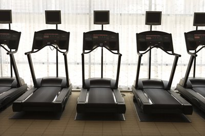 Toning your legs starts with turning on a treadmill.