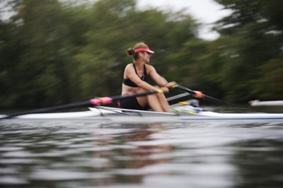 Rowing provides a full-body cardio workout.