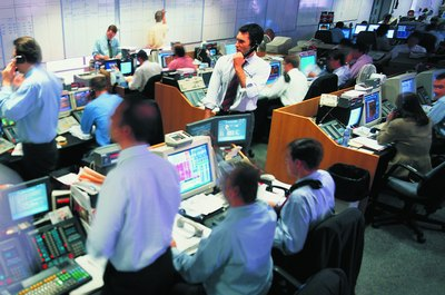 Bond trading desks in financial centers handle billions of dollars in transactions daily.