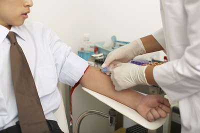 Phlebotomists draw blood for medical testing and donations.