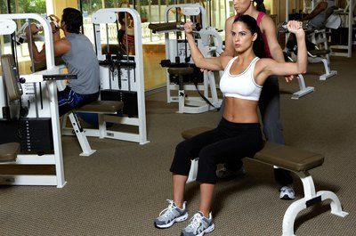 Combine your weights bench with dumbbells for a tough workout.