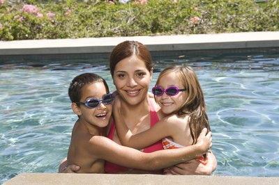 Swimming is a low-impact exercise for the whole family.