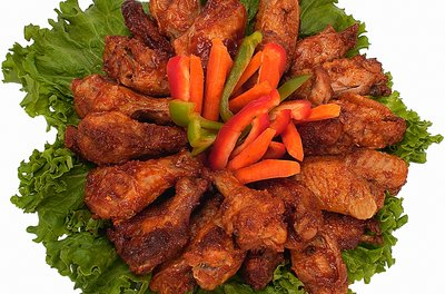 Chicken wings contain small amounts of cholesterol.