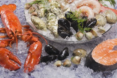 Many types of seafood have nutritional vitamin B12.
