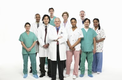 Nurses and doctors work as part of a team.