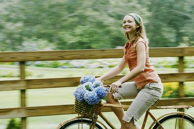 Lose weight and enjoy the sights while biking.