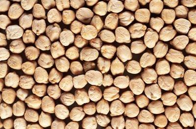 Chickpeas are high in fiber.