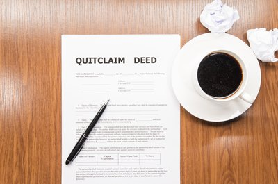 A quitclaim deed grants you full ownership of the marital home.