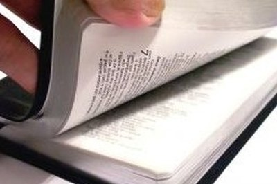 A good Bible is a necessary tool for study.