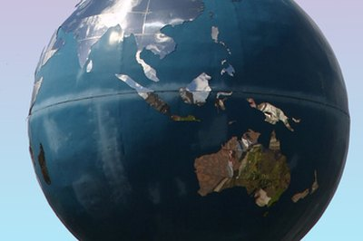 The line running east and west in the center of the globe is the equator.