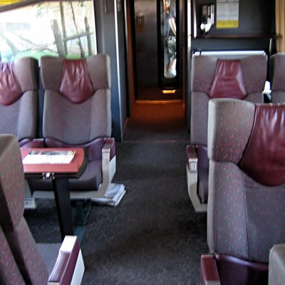 Example of interior seating of a renovated VIA 1 LRC club car.