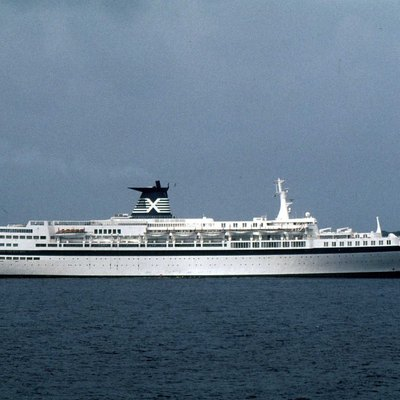The cruise ship Meridian at San Blas Islands on December 11, 1993.
