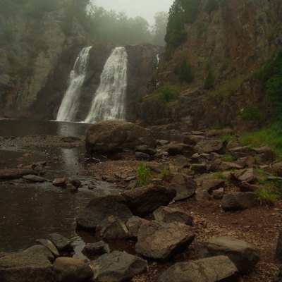 High Falls at Tettegouche State Park in Minnesota, on the north shore of Lake Superior.