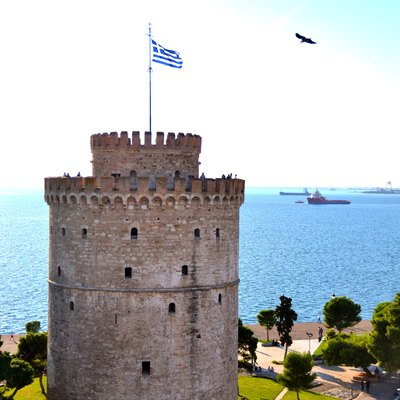The White Tower of Thessaloniki, one of the best-known Ottoman structures remaining in Greece.
