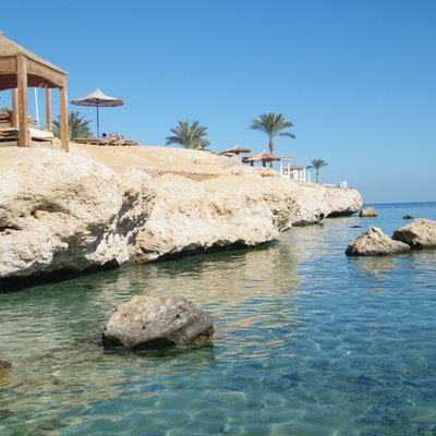 A beach in Sharm El Sheikh.