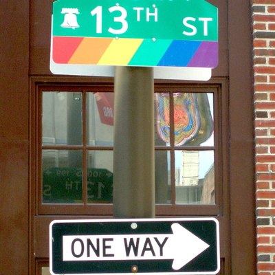Sign for the Philadelphia Gayborhood