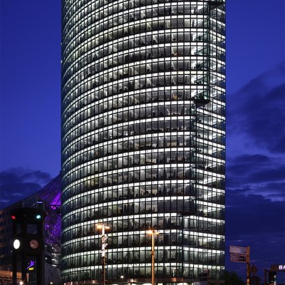 BahnTower (headquarter of the Deutsche Bahn) at the Potsdamer Platz (Potsdam Square) in Berlin