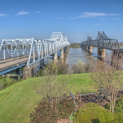 Vicksburg Bridge from the Mississippi Welcome Center