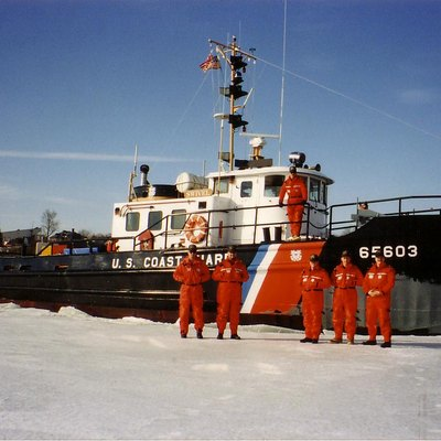 1992 Ice Breaking at Bangor Maine on the Penobscot River