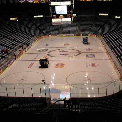 Towels laid out on each seat at the Pacific Coliseum in Vancouver, British Columbia prior to the 2007 Memorial Cup championship game. May 27, 2007