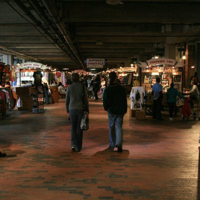 Merchants inside Underground Atlanta.
