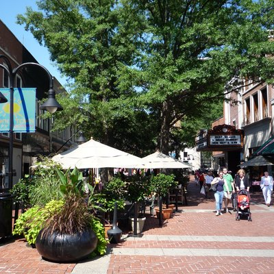 The Downtown Mall in Charlottesville, Virginia.