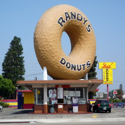 Randy'S Donuts, Los Angeles, California.