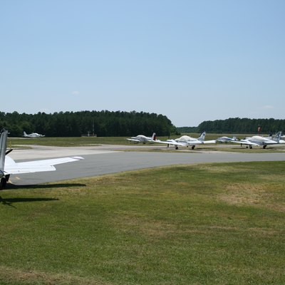 Horace Williams Airport (IGX) in Chapel Hill, North Carolina, viewed from the parking lot.
