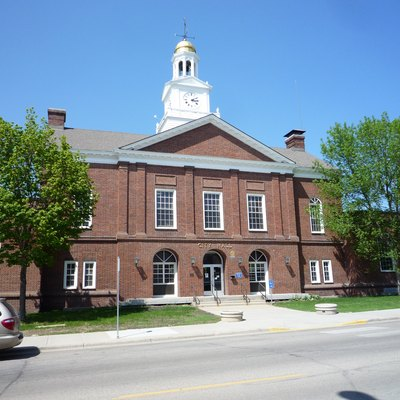 City Hall, Fergus Falls, Minnesota, USA. It was modeled off of Independence Hall in Philadelphia.