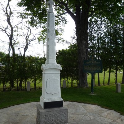 The grave of Father Jacques Marquette, St. Ignace, Michigan, USA.