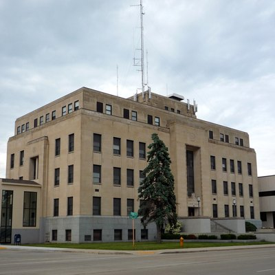 Marinette County Courthouse, Marinette, Wisconsin, Usa.