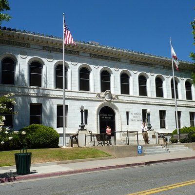 El Dorado County Courthouse, Placerville, California, Usa.