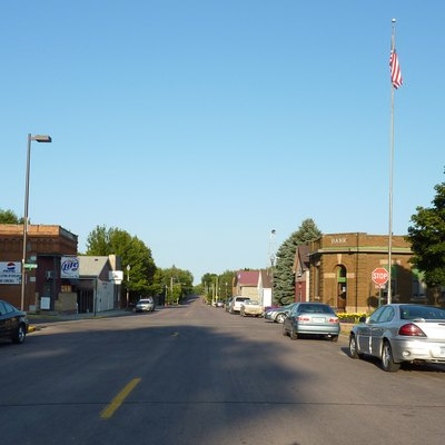 Downtown Elysian, Minnesota, USA.