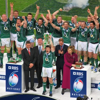 Ireland winning the 2009 Six Nations Championship, Millennium Stadium, Cardiff, Wales.