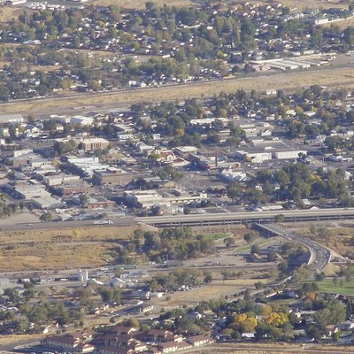 Downtown Winnemucca, Nevada viewed from Winnemucca Mountain