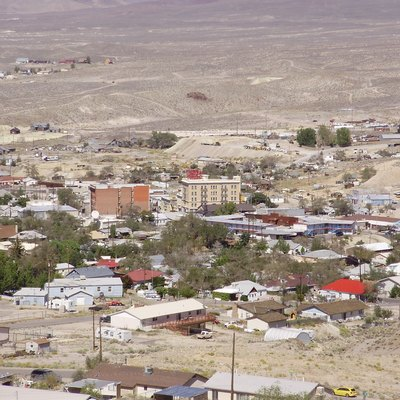 View of downtown Tonopah, Nevada from the southwest on September 19th 2013