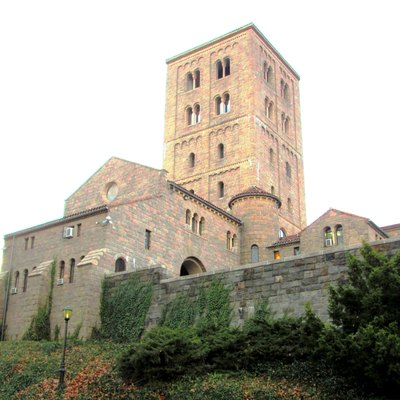 The Cloisters museum in Fort Tryon Park, Manhattan, New York City, seen from the northeast.