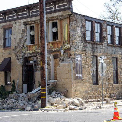 The Sam Kee Laundry Building after Napa Valley earthquake.