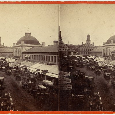 Quincy Market, 19th century