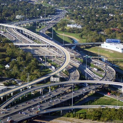 Took this awesome pic of i-10 and i-45 right at the northern edge of downtown Houston.