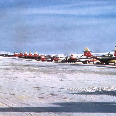 74th Fighter-Interceptor Squadron F-89s, Thule Air Base, Greenland, 1955