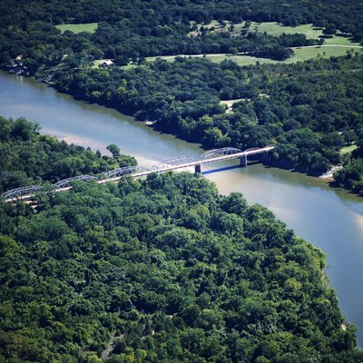 State Highway No. 78 Bridge At The Red River Between Oklahoma And Texas, Photographed On The Oklahoma Side