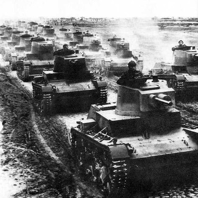 Polish tanks 7TP, 1939.