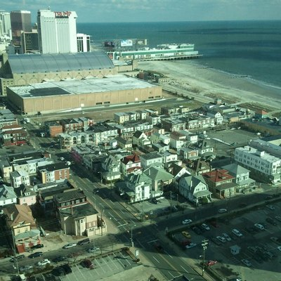 A view of the Atlantic City Boardwalk from the Tropicana Casino Hotel