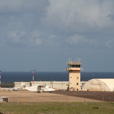 The ATC tower at Lihue Airport (LIH), Kauai, Hawaii.